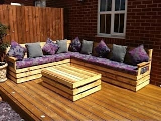 Garden corner unit por Pallet furniture uk Eclético