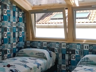 Dormitorio: Dormitorios de estilo  de KM Arquitectos