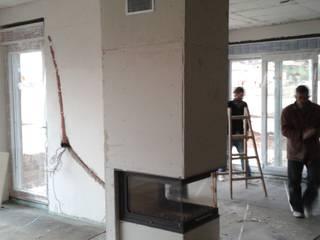 Kİng Şömine – 3 taraflı hazne: modern tarz Oturma Odası