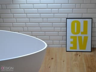Scandinavian style bathroom by kabeDesign kasia białobłocka Scandinavian