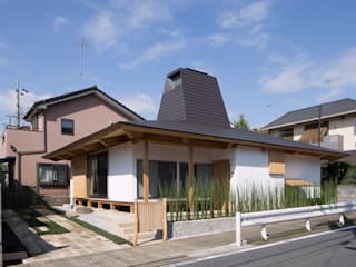 traditional wooden technique A-House Eclectic style houses by 建築設計事務所 山田屋 Eclectic