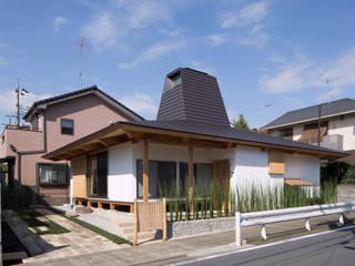 traditional wooden technique A-House Rumah Gaya Eklektik Oleh 建築設計事務所 山田屋 Eklektik