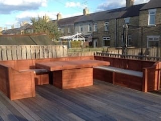 Garden corner unit and table Pallet furniture uk Garden Furniture