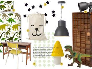 インダストリアルデザインの 子供部屋 の Kinderkamervintage インダストリアル