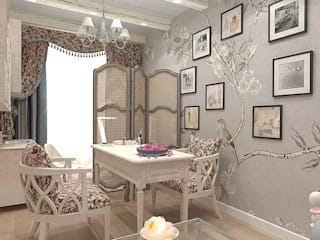Маникюрная комната в салоне в стиле прованс: Рабочие кабинеты в . Автор – Design ,