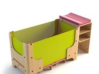 łóżeczko dziecięce - faza 2: styl , w kategorii Pokój dziecięcy zaprojektowany przez Grupa projektowa odRzeczy
