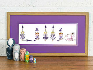 FromLucy - Fairy Name Personalised Print - Purple Mount oak frame:   by FromLucy