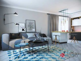 группа Kstudio Eclectic style dressing rooms