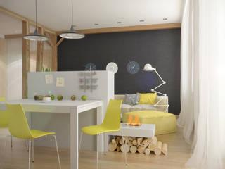 группа Kstudio Minimalistische Wohnzimmer