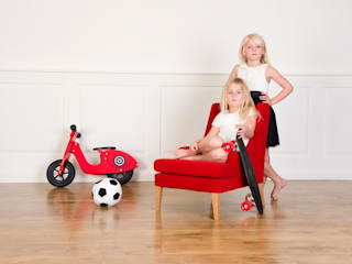 Child Lounger red:   by Treasure Chairs
