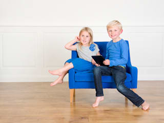 Child Sofa Blue:   by Treasure Chairs