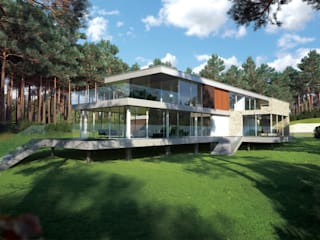 Canford Cliffs, Poole Дома в стиле модерн от David James Architects & Partners Ltd Модерн