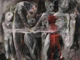 Le châtiment c'est mourir de dos (diptyque) / Punishment is dying from behind (diptych):  de style  par ART CONTEMPORAIN.COM