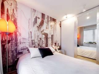 Mieszkanie singla: styl , w kategorii Sypialnia zaprojektowany przez Architektura Wnętrz Daria Zaremba