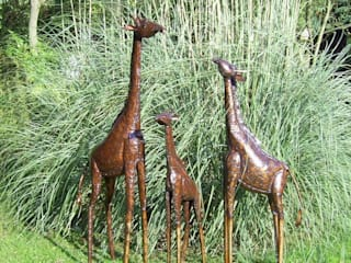 Metal Garden Giraffe Sculptures:   by Faraway Finds