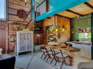 Ferraro Habitat Soggiorno in stile rustico