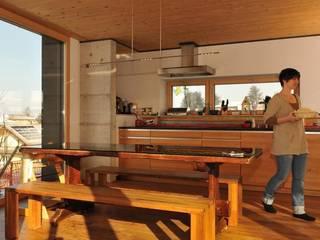 Maison individuelle PASSIVE Salle à manger moderne par ELEMENT 9 Moderne