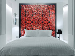 Camera da letto in stile in stile Coloniale di ESTUDIO DELIER