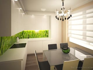 квартира в ЖК Новое Павлино: Кухни в . Автор – Kasatkina interior design, Эклектичный