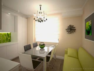 квартира в ЖК Новое Павлино Кухни в эклектичном стиле от Kasatkina interior design Эклектичный