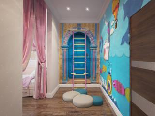 Детская для девочек Детская комнатa в средиземноморском стиле от Fronton Studio Средиземноморский