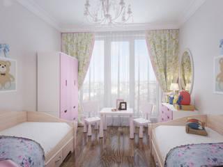 Детская для девочек Детская комната в стиле модерн от Fronton Studio Модерн