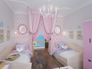 Детская для девочек Детская комнатa в классическом стиле от Fronton Studio Классический