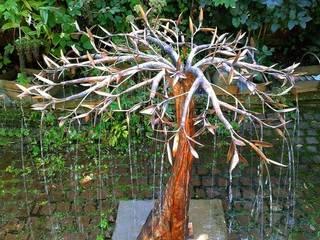 Rain Tree water sculpture:   by Metallic Garden