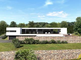 Maison contemporaine Aix-en-Provence 4: Maisons de style  par ARRIVETZ & BELLE