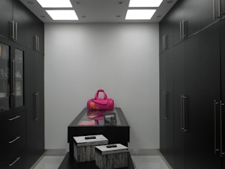 Modern dressing room by ARKIZA ARQUITECTOS by Arq. Jacqueline Zago Hurtado Modern