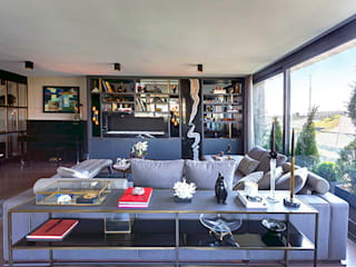 DVI RESIDENCE Modern living room by Esra Kazmirci Mimarlik Modern