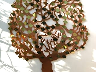 Memory Tree wall sculpture:   by Metallic Garden