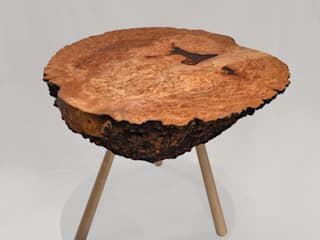 Burr Elm Coffee Table Clachan Wood Oturma OdasıKenar Masa & Tablaları