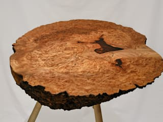 Burr Elm Coffee Table: rustic  by Clachan Wood, Rustic