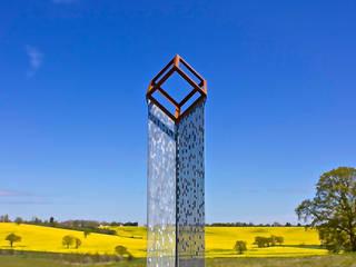'Cube Cloud' Sculpture Modern garden by David Watkinson Sculpture Modern