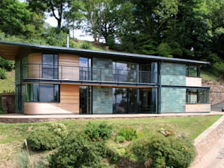 Blue Door, Monmouthshire Hall + Bednarczyk Architects Modern houses