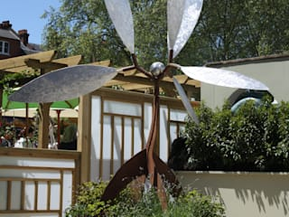 'Silver Leaf' kinetic sculpture Modern hotels by David Watkinson Sculpture Modern