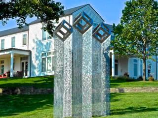 'Cube Cloud Trilogy': modern Garden by David Watkinson Sculpture