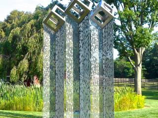 'Cube Cloud Trilogy':  Museums by David Watkinson Sculpture