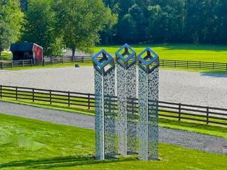 'Cube Cloud Trilogy':  Office buildings by David Watkinson Sculpture