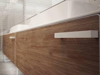 Łazienka w stylu minimalistycznym Minimalistyczna łazienka od Luxum Minimalistyczny
