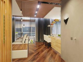 1 комнатная квартира студия для молодого человека: Коридор и прихожая в . Автор – D+ | интерьерное бюро