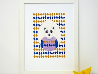 "Affiche ""Pull-over bear"":  de style  par Season Paper collection"