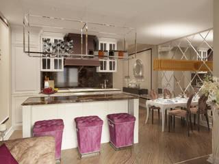 Двухкомнатная квартира. Застройщик Шелдом: Кухни в . Автор – D+ | интерьерное бюро