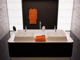 Łazienka w stylu minimalistycznym od LUXUM Minimalistyczna łazienka od Luxum Minimalistyczny