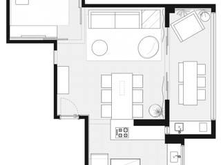 Apartamento AL por Haruf Arquitetura + Design