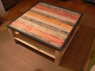 """Table basse """"Rainbow"""" par Palette & co Éclectique"""