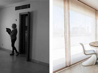 Antes y después en reforma de piso ático en Madrid:  de estilo  de Arquitectos Madrid 2.0