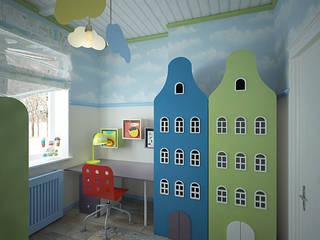 Cuartos infantiles de estilo rural de студия Виталии Романовской Rural