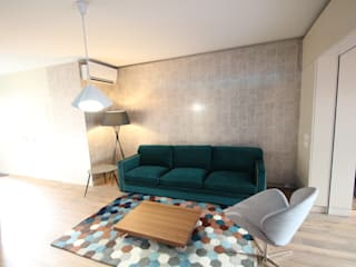 The blue petrol House Salon moderne par Agence O² Design Moderne
